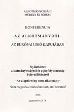 Az alkotmányról az Európai Unió kapujában